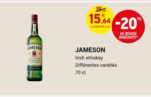 Bouteille d'Irish whiskey Jameson - 70cl