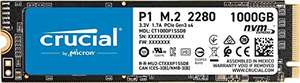 SSD interne M.2 NVMe Crucial P1 CT1000P1SSD8 (3D NAND) - 1 To (Vendeur Tiers)