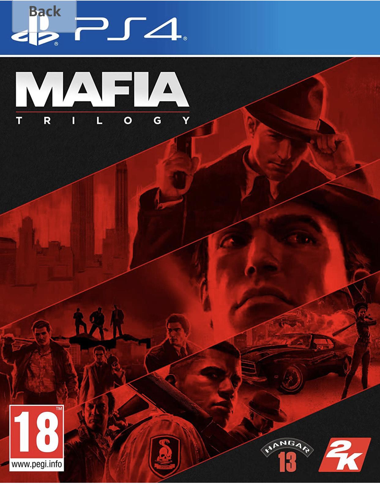 Jeu Mafia Trilogy sur PS4 (Frais d'importation inclus)