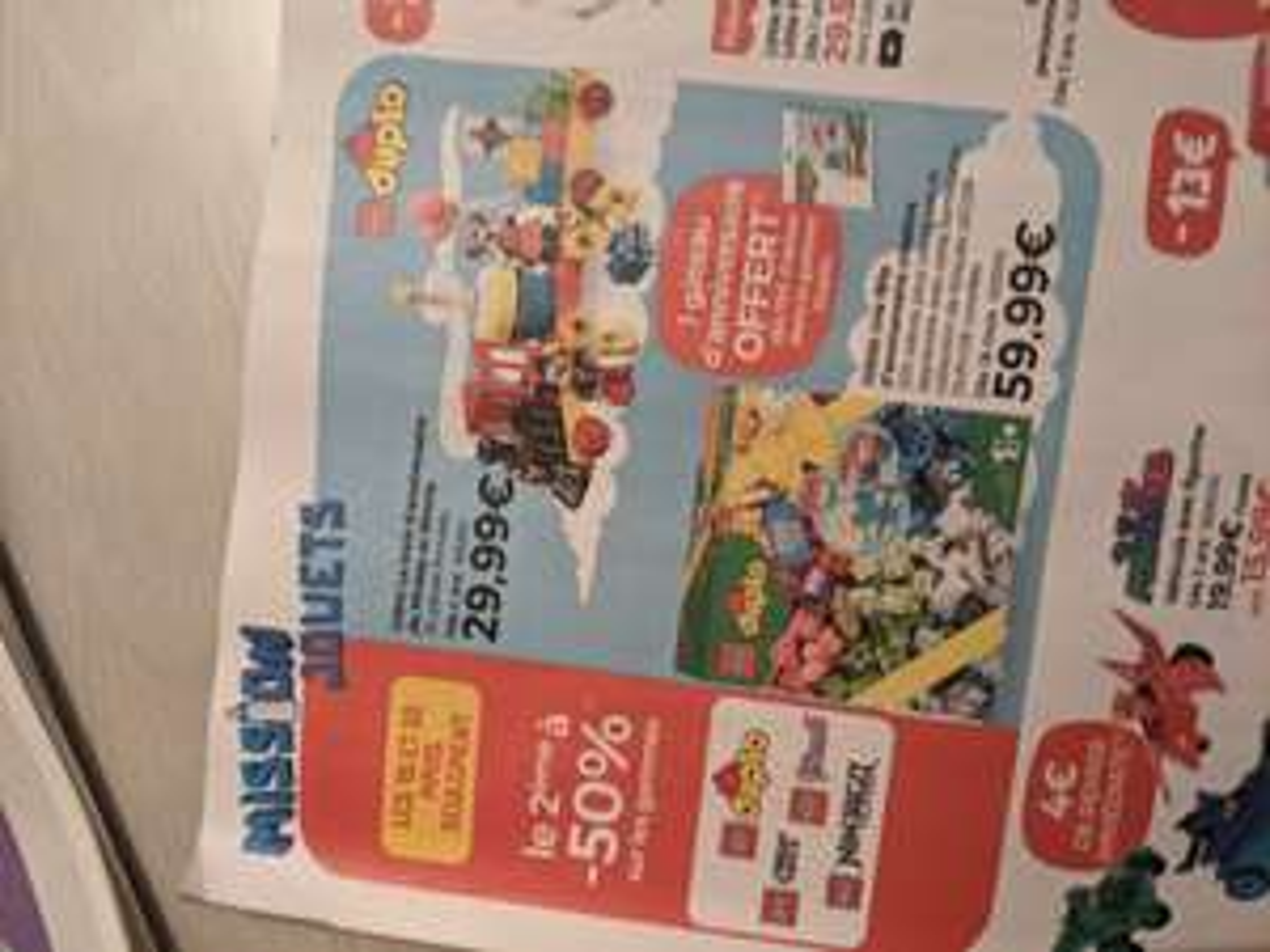 1 Jouet Lego Duplo, City, Friends ou Ninjago acheté = 50% de réduction sur le 2ème