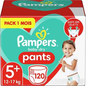 Pack de 120 Couches-Culottes Pampers Baby-Dry Pants - Taille 5+