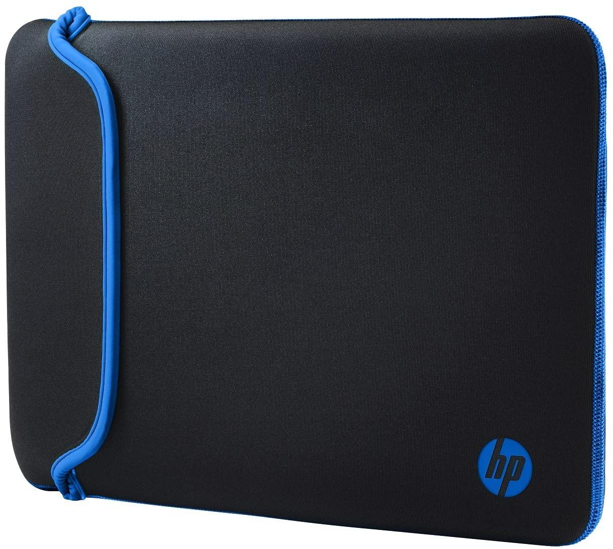 """Housse de Protection Réversible HP pour Ordinateur Portable 14"""" (Néoprène) - Noir/Bleu"""