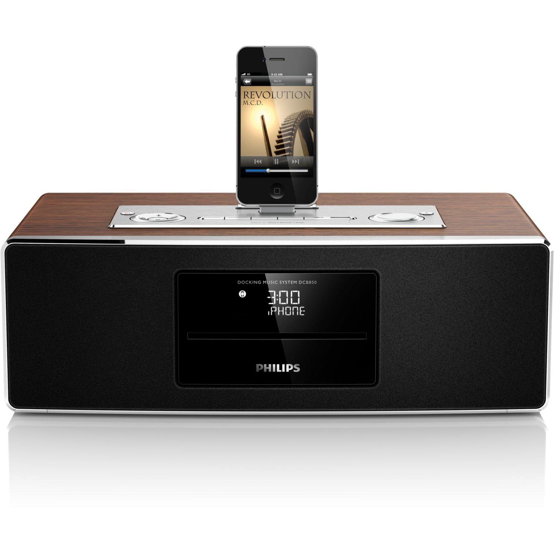 Station d'accueil et microchaîne Philips DCM850/12 pour iPod/iPhone/iPad