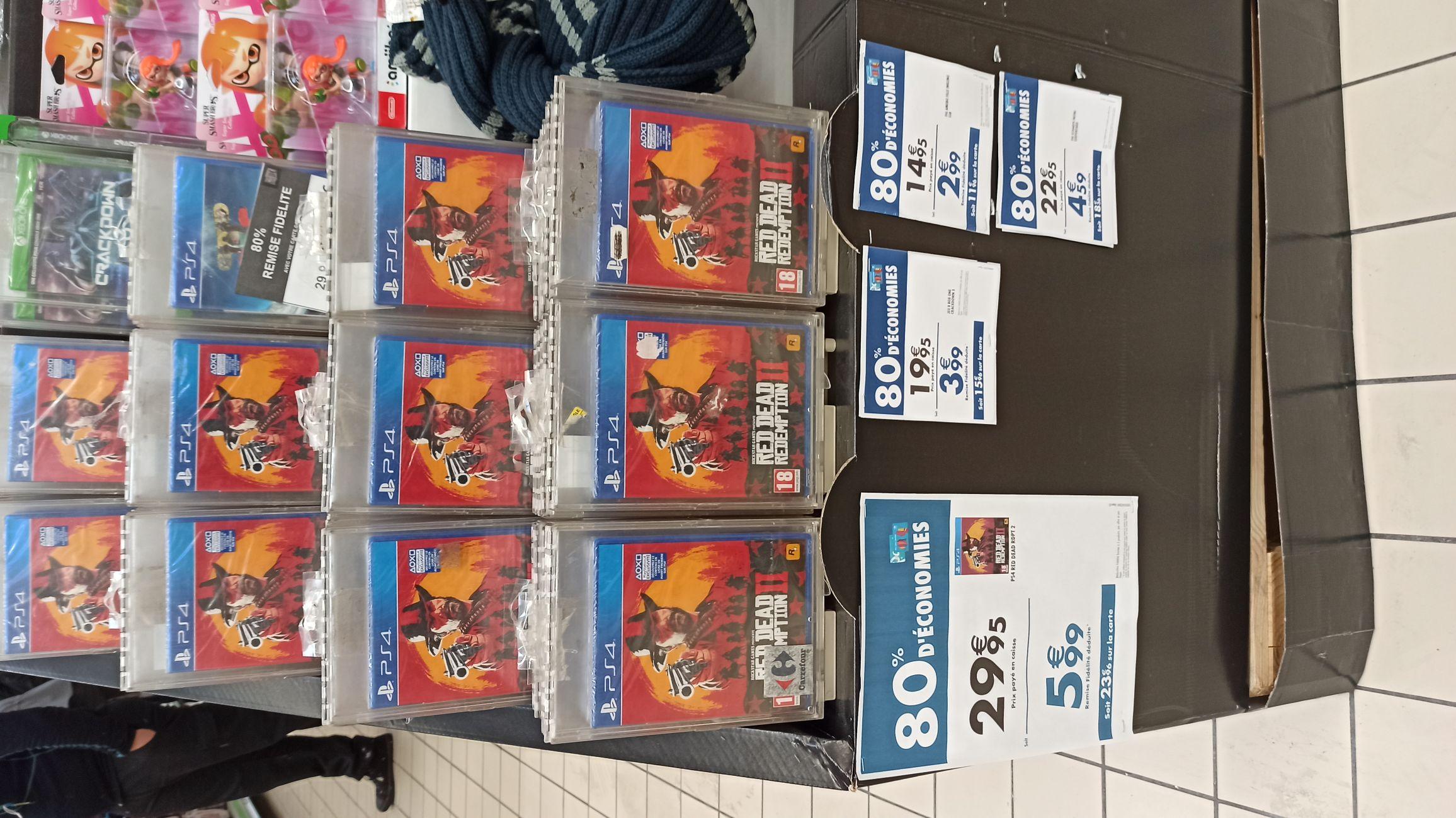Jeu Red Dead Redemption 2 sur PS4 (Via 23.96€ sur Carte Fidélité)