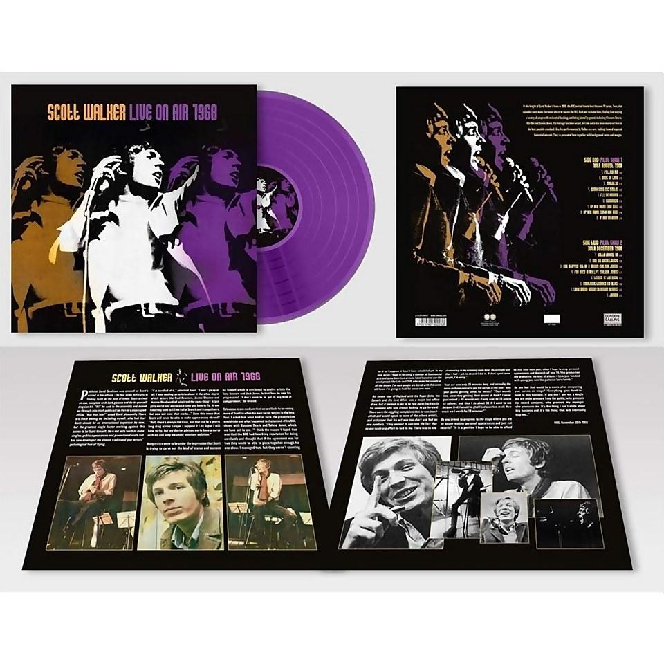 Vinyle Scott Walker - Live On Air 1968 LP edition limitée coloré