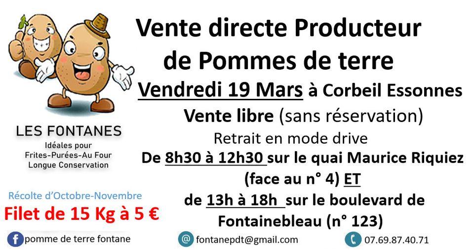 Filet de pommes de terre Fontanes (15 kg) - Corbeil Essonnes (91)