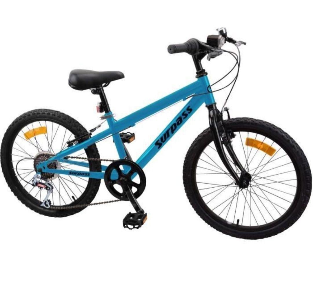 """Vélo enfant VTT Surpass 20"""" - 6 vitesses, Bleu ou Rouge"""