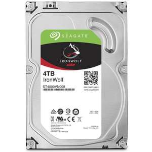 """Disque Dur Interne 3.5"""" Seagate IronWolf - 4 To, SATA III (6 Gb/s) Cache 64 Mo ST4000VN008"""