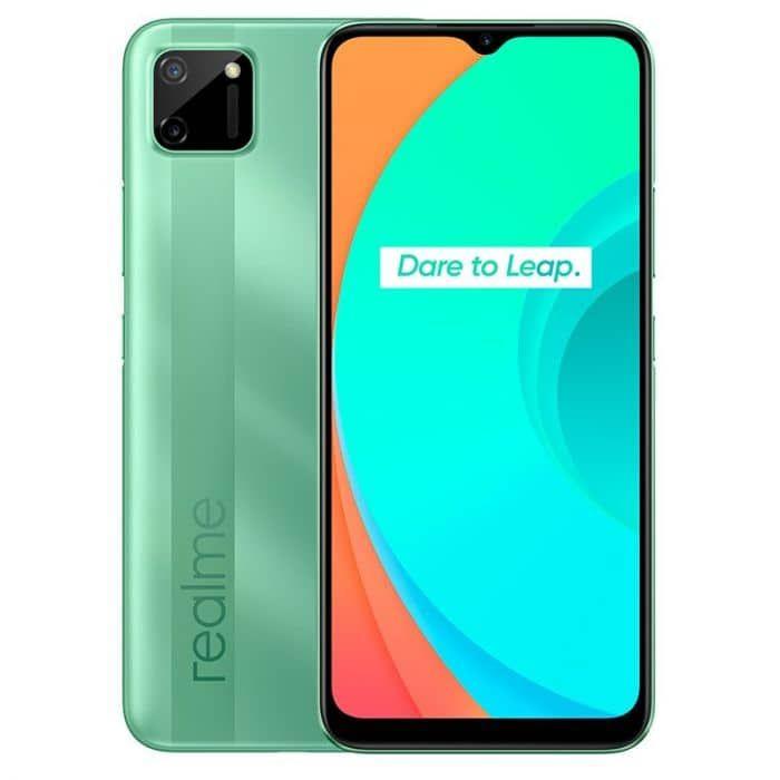 """Smartphone 6,5"""" Realme C11 - 2 Go de RAM, 32 Go - Vert (via ODR de 20€)"""