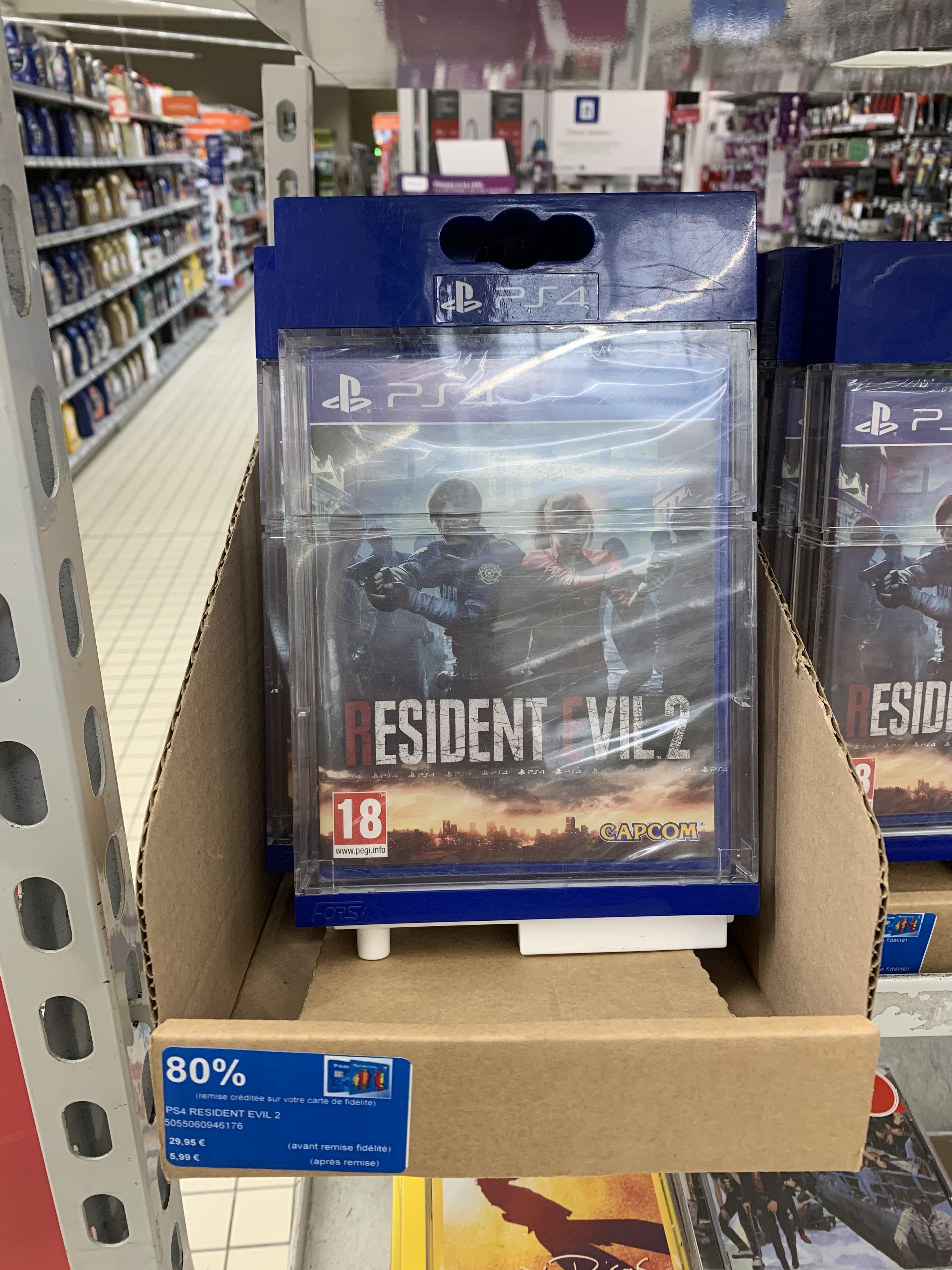 Resident Evil 2 sur PS4 (via 23.96€ sur le compte fidélité) - Chalon sur Saône (71), Antibes (06)