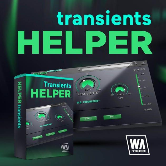 Plugin audio Helper Transients 2 (dématérialisé, VST/AU/AAX) - WAProduction.com