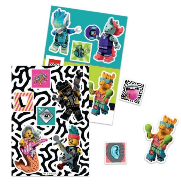 Set stickers Vidiyo Sheet Lego (5006771) gratuit pour tout achat sur le site