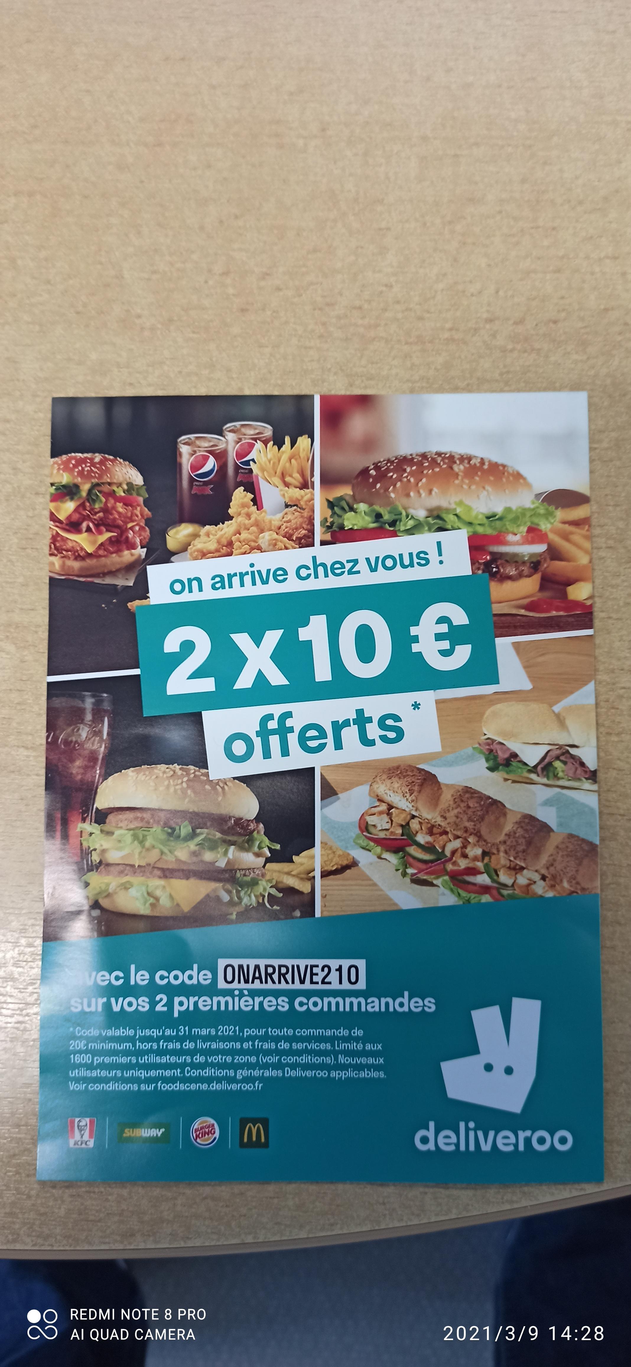[Nouveaux clients] 10€ de réduction dès 20€ sur les 2 premières commandes - Dunkerque (59)