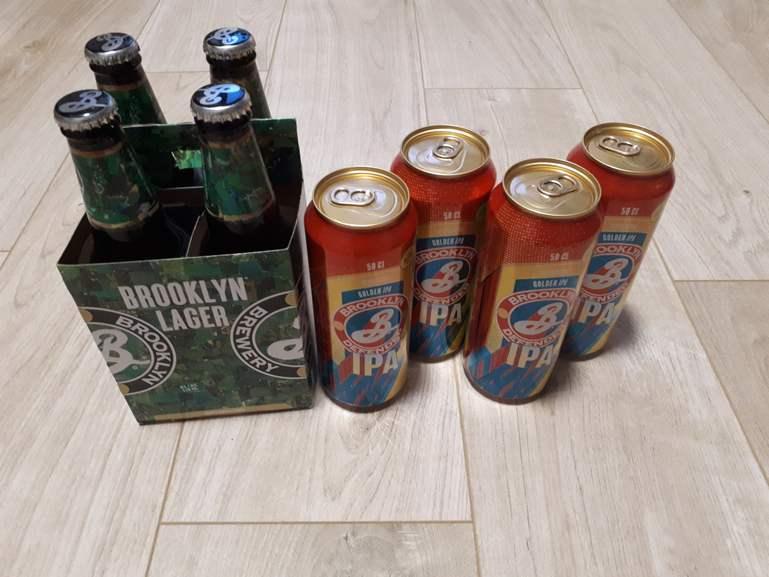 Canette de bière Brooklyn IPA defender et Brooklyn lager - Gruchet-le-valasse (76210)