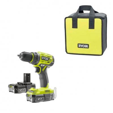 Pack perceuse brushless Ryobi R18DD7-220S (18V) - 2 batteries (2.0Ah) + chargeur + sac & outil multi-fonction Ryobi R18MT3-0