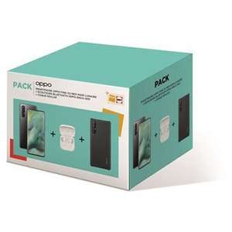 "Pack Smartphone 6.5"" Oppo Find X2 Neo 5G (fHD+, 12 Go de RAM, 256 Go) + Coque de protection Oppo Kevlar Noir + écouteurs bluetooth"