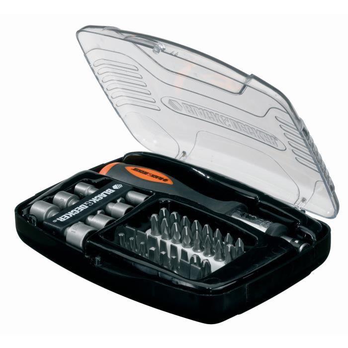 Kit de tournevis à cliquet Black & Decker - 40 accessoires