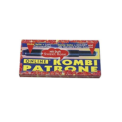 Boîte de 5 Cartouches d'encre Online Kombi - Bleu parfumée, Rouge ou Brun