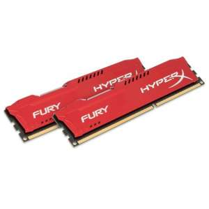 Kit mémoire RAM Kingston HyperX Fury 16 Go (2 x 8 Go) - DDR3-1866, CL10, rouge