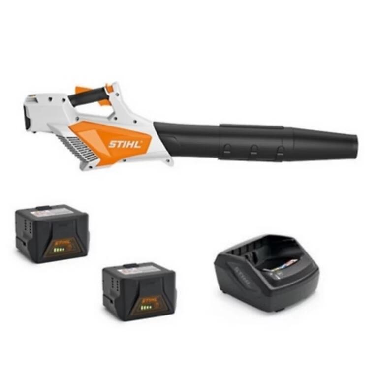 Souffleur sans fil 36V Stihl BGA 57 Pack Intensif - 2 batteries AK20 3.2Ah, Chargeur AL101, Débit : 620 m³/h, Vitesse max de l'air: 55 m/s
