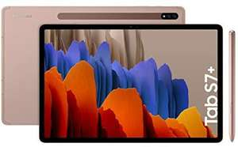 "Tablette 12.4"" Samsung Galaxy Tab S7+ Plus WiFi - Snapdragon 865+, 6 Go RAM, 128 Go, Bronze avec S Pen"