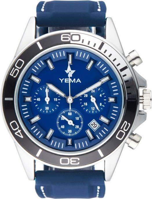 Sélection de montres à quartz Yema en promotion - Ex : bleu / argent