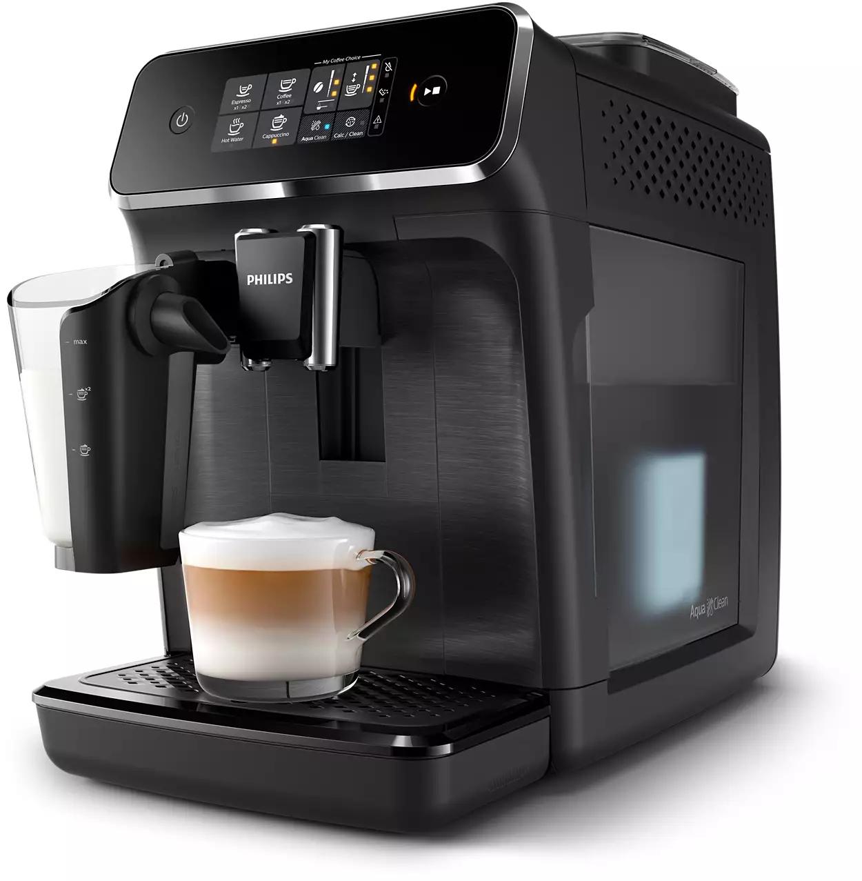 Machine expresso & LatteGo - café grains avec broyeur - Philips Series 2200 EP2230/10