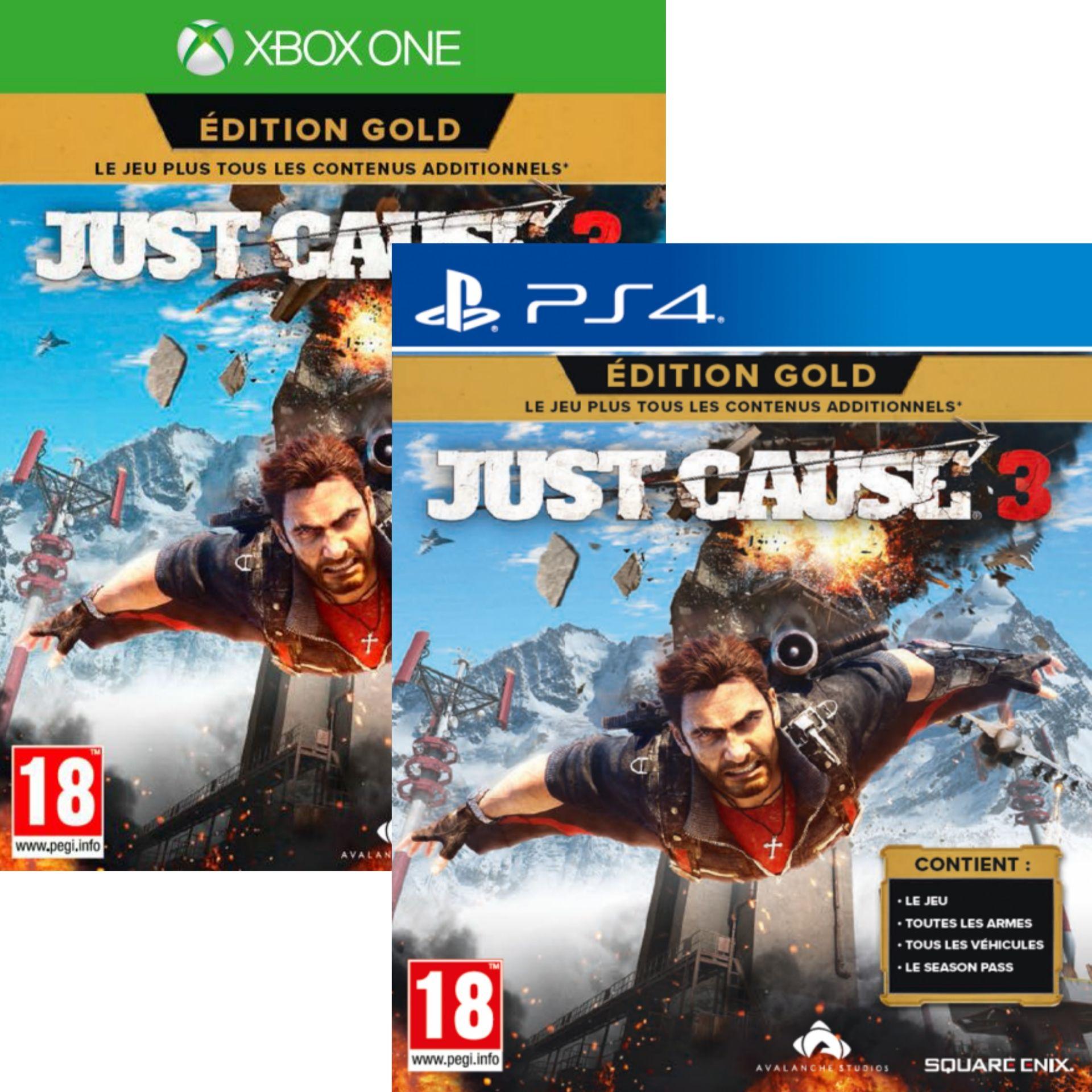 Just Cause 3 Edition Gold (jeu + DLC) sur PS4 ou Xbox One