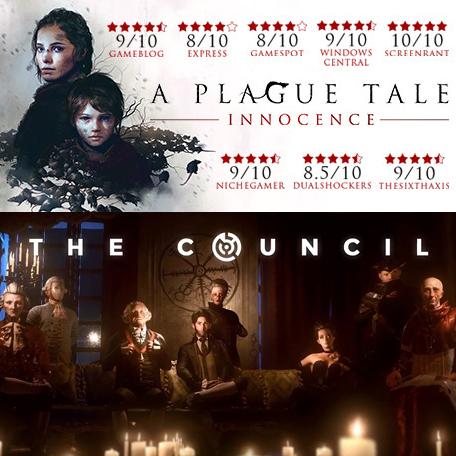 The Council offert dès 8€ d'achat - Ex: A Plague Tale: Innocence + The Council sur PC (Dématérialisés - Steam)