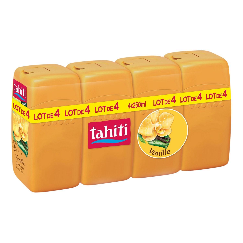 Pack de 4 gels douche Tahiti (4 x 250ml, Variétés au choix)