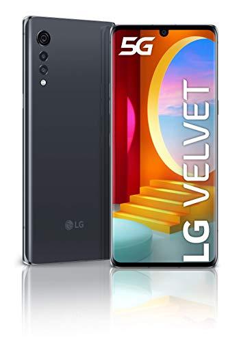 """Smartphone 6.8"""" LG Velvet 5G - full HD+ OLED, SnapDragon 765G, 6 Go de RAM, 128 Go, NFC, 48+8+5 Mpix"""