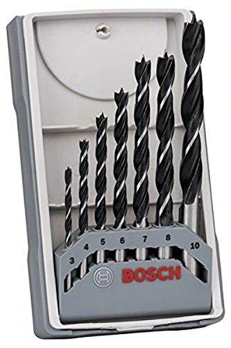 Assortiment de 7 mèches à bois hélicoïdales Bosch (2607017034)