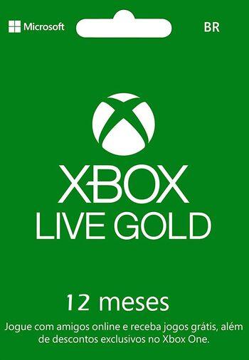 Abonnement Xbox Live Gold de 12 mois (Compte BR - Dématérialisé)