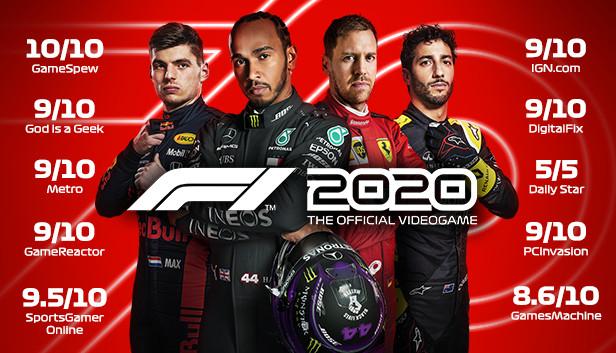 Sélection de jeux en promotion - Ex : Jeu F1 2020 sur PC (Dématérialisé, Steam)