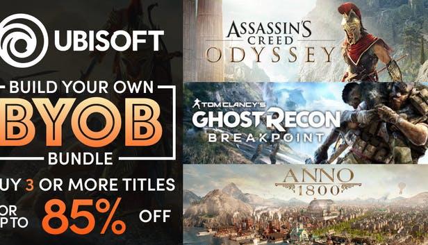 Bundle de jeux PC Ubisoft à composer (Dématérialisés) - Ex: [À partir de 5 jeux achetés] Rainbow Six Siege à 3€, Assassin's Creed Odyssey 9€