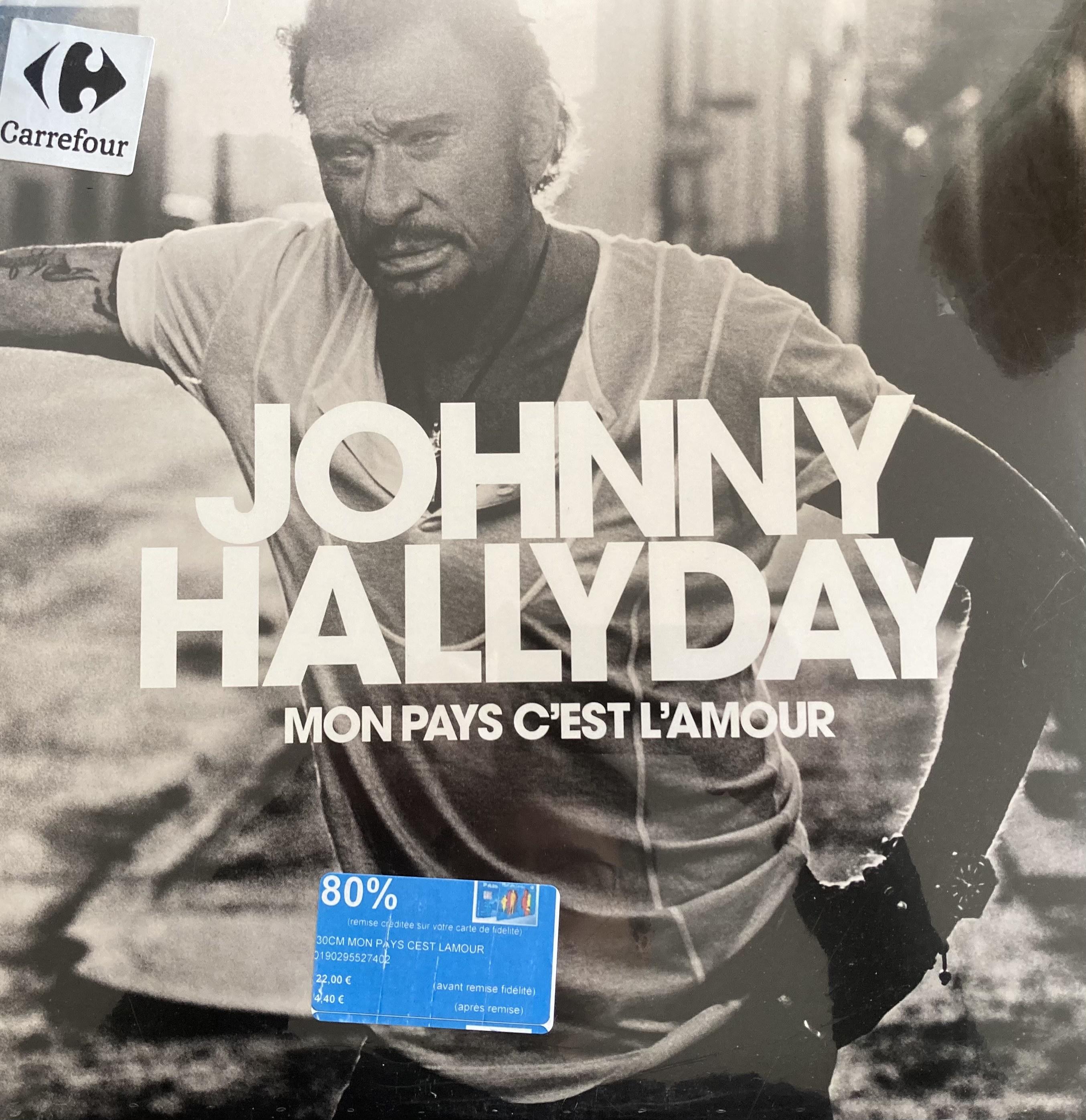 Vinyle Johnny Hallyday : Mon pays c'est l'amour - Montesson (78)