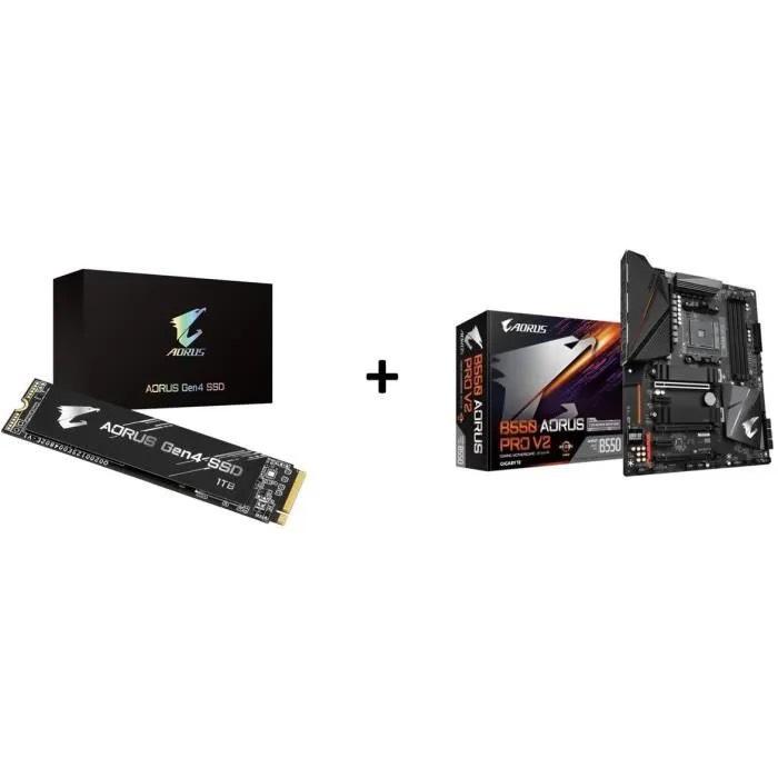 Kit Évo PC : SSD AORUS NVMe Gen4 (1 To) + Carte mère Gigabyte B550 AORUS PRO V2