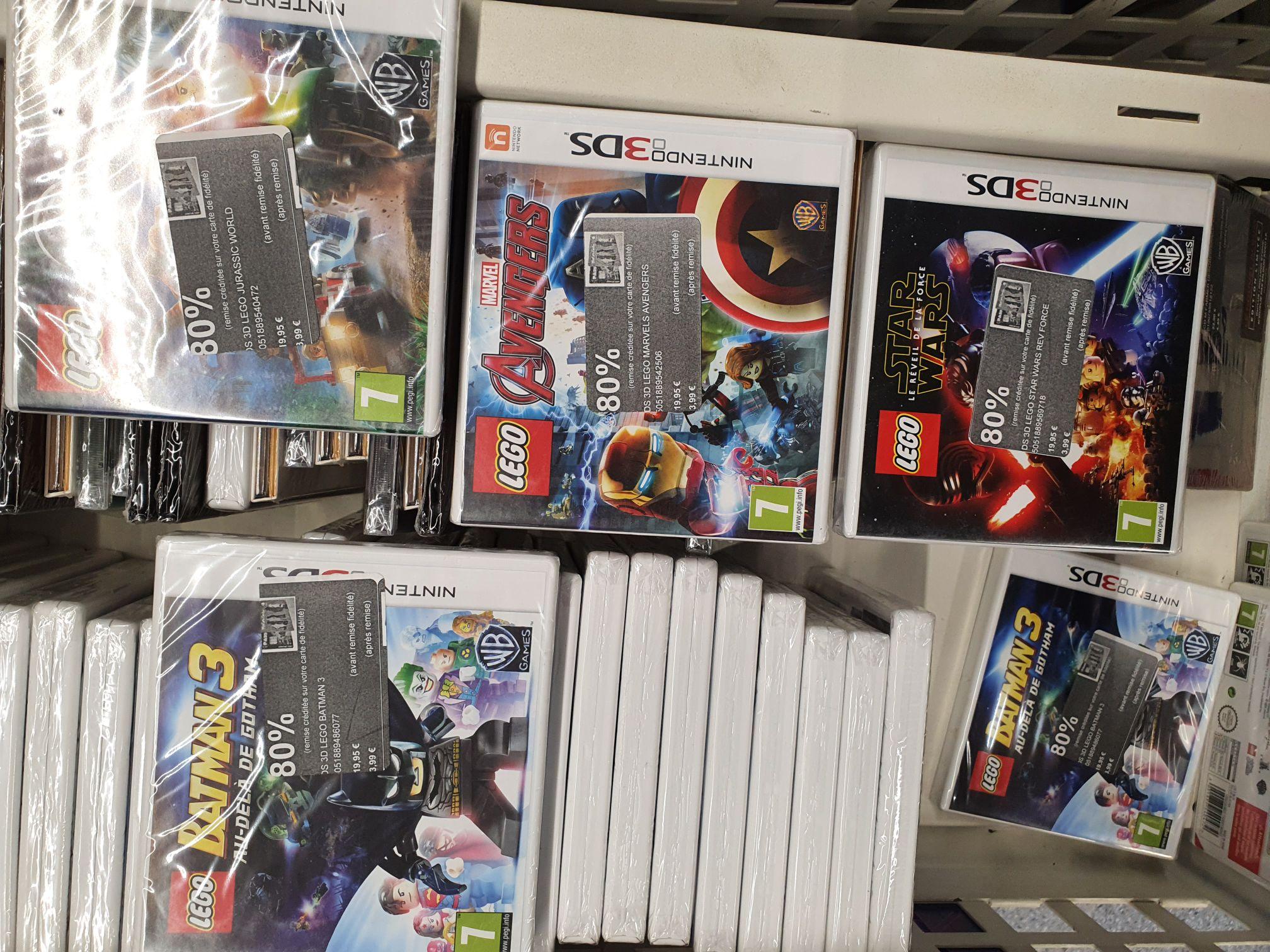 Sélection de jeux vidéos en promotion - Ex: Lego Batman 3 sur Nintendo 3DS (Via 15,96€ sur carte de fidélité) - Créteil (94)