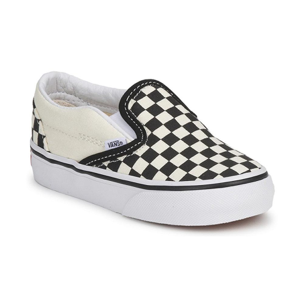 Paire de baskets Vans Classic Slip-On pour bébé - Noir et Blanc