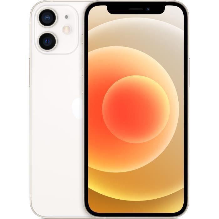 """Smartphone 5.4"""" Apple iPhone 12 Mini - A14, 4 Go de RAM, 128 Go, Blanc"""