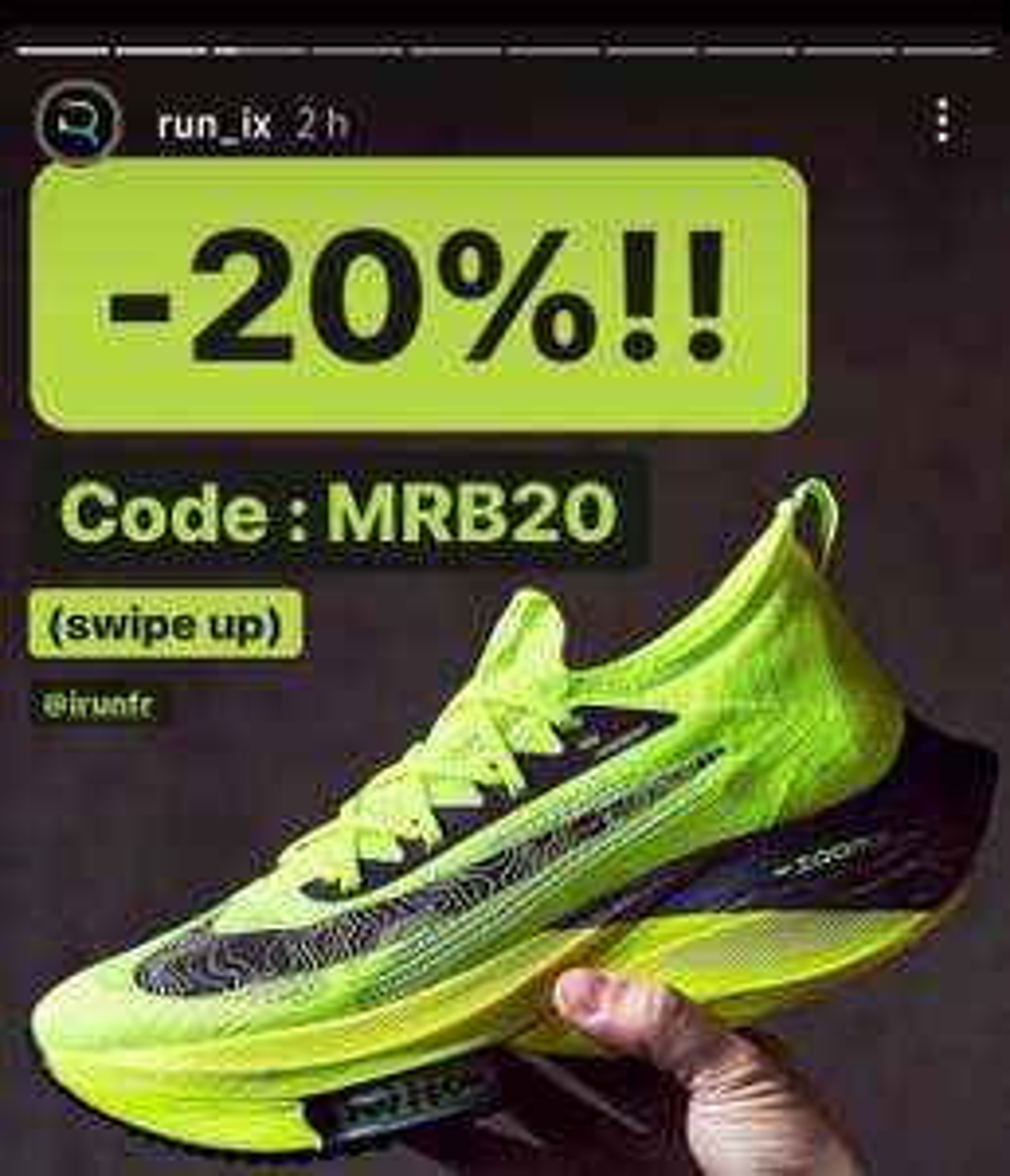 20% de réduction sur une sélection de chaussures