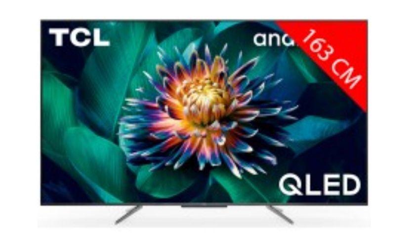"""TV 65"""" TCL 65C711 - QLED, 4K, HDR, Android TV (via ODR de 50€)"""