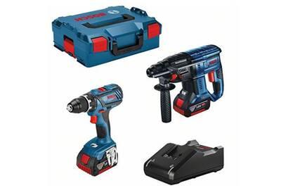 Coffret multi-outils Bosch Bosch perceuse gsr 18v-28 + perforateur gbh 18v-21 + 2 batteries 18v 4.0ah +chargeur + coffret (vendeur tiers)