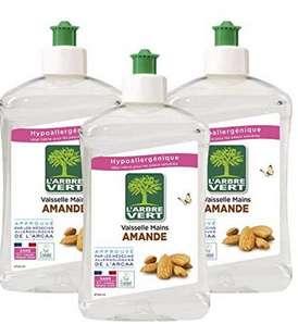 Lot de 3 liquides vaisselle hypoallergéniques L'Arbre Vert Amande douce - 3 x 750ml