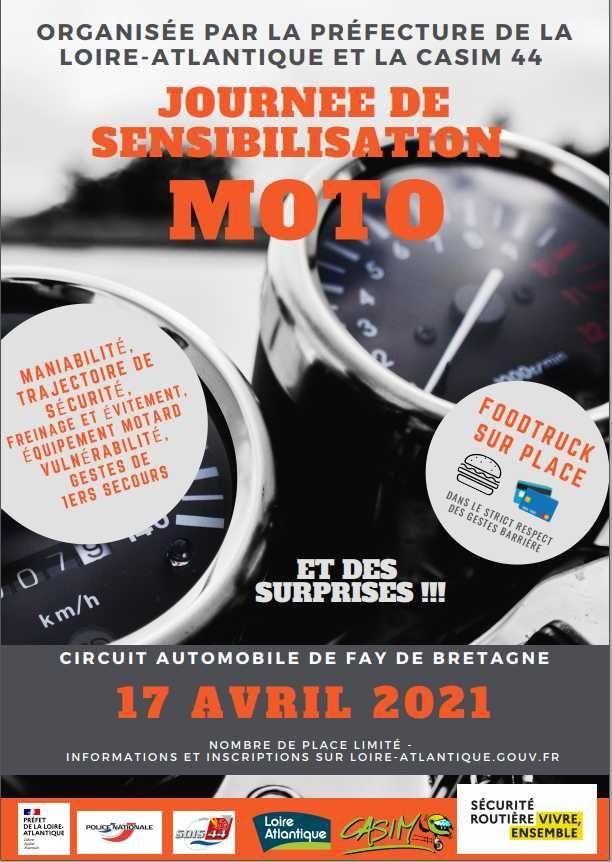 Stage de sensibilisation et de perfectionnement moto - Fay-de-Bretagne (44)