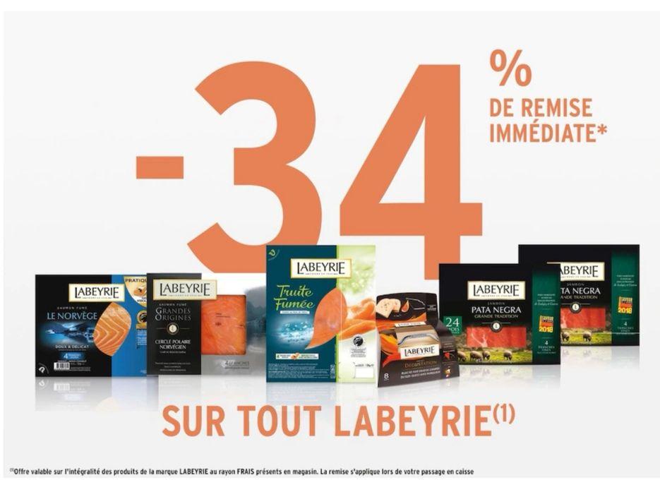 34% de remise immédiate sur la marque Labeyrie