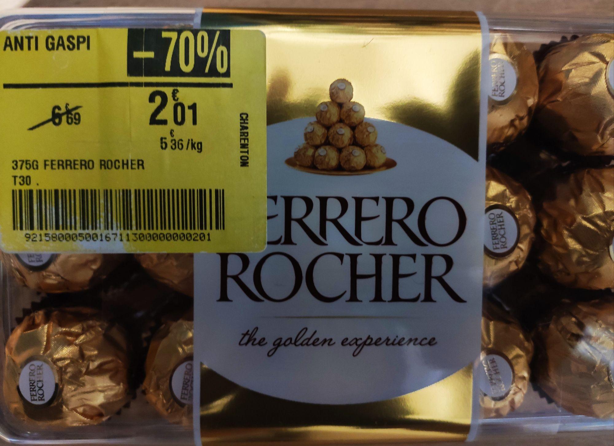 Boites de 30 chocolats Ferrero Rocher 375g (DLUO courte) - Bercy 2 (94)