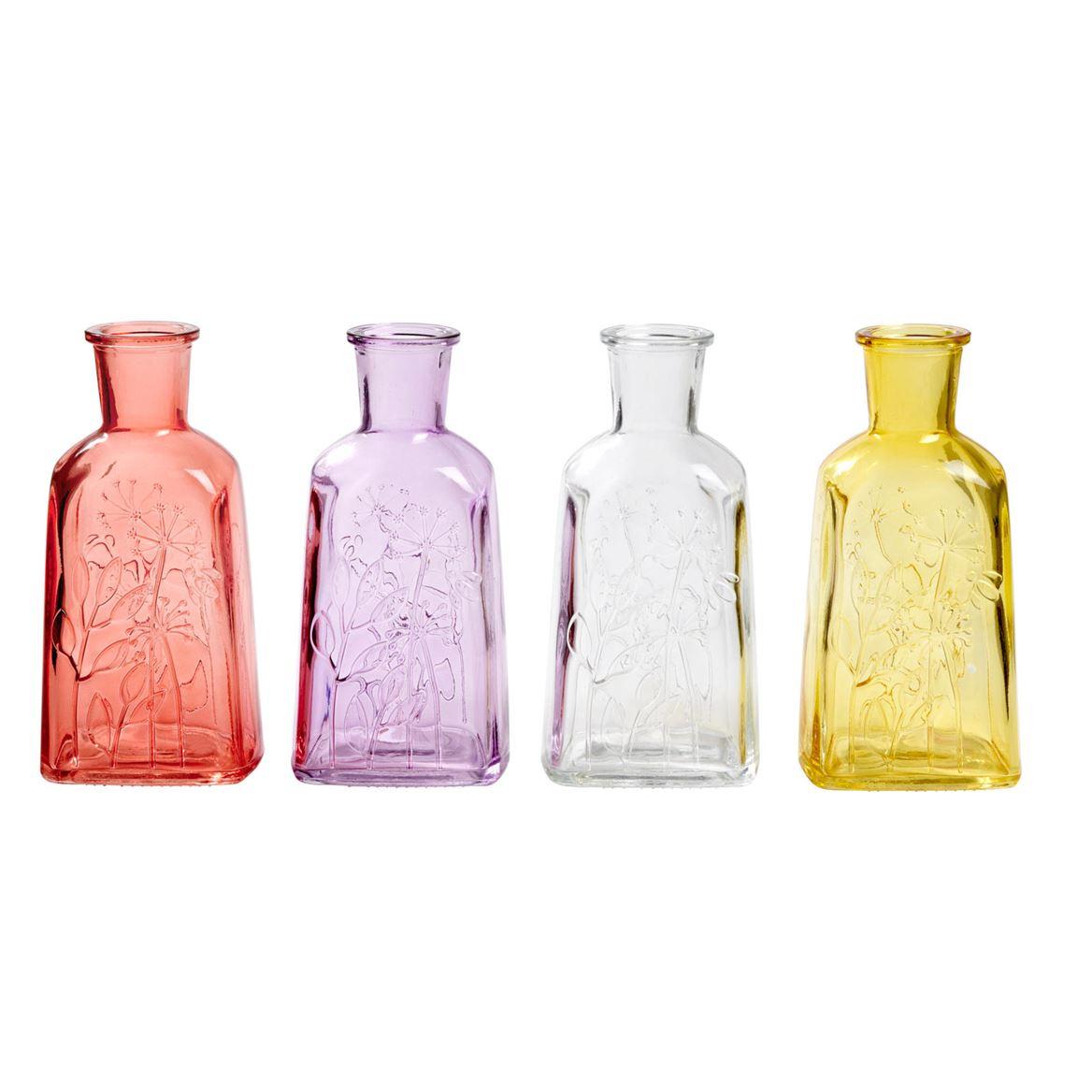 Vase Fiori Casa transparent - 19 x 9,2 x 7,2 cm (4 couleurs)