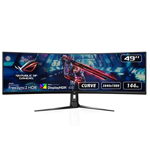 """Écran PC 49"""" Asus ROG Strix XG49VQ - 3840 × 1080, 144Hz, Dalle VA, 4ms"""