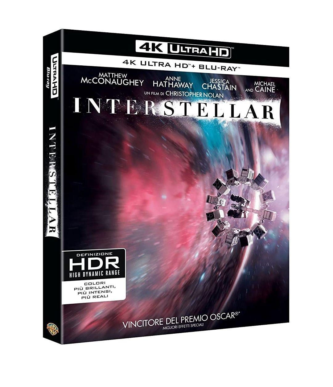 Blu-Ray 4K UHD + Blu-Ray Interstellar (Import Italien)